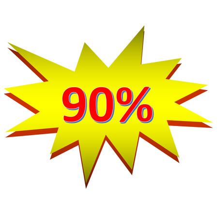 80 90: sale or discount promotion symbol Stock Photo