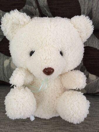doll: White bear doll Stock Photo