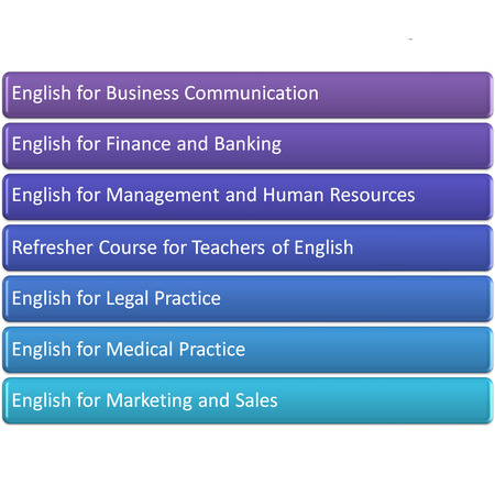the garph or daigram picture of Business and Specialised Programme Stock Photo