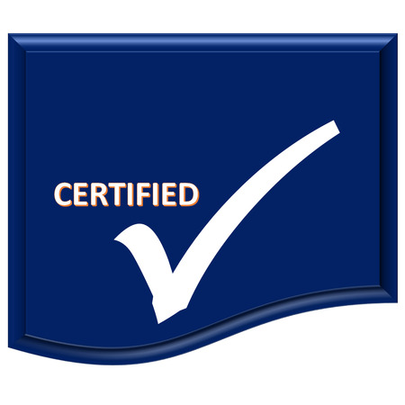 certified: The images symbol blank  have been certified
