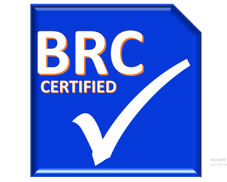 certified: The images symbol have been brc certified