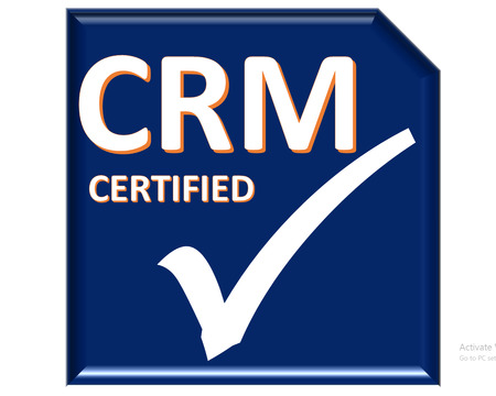 certified: The images symbol have been crm certified