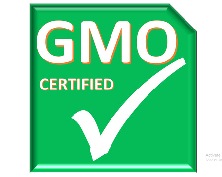 The images symbol have been gmo certified photo
