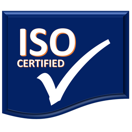 The images symbol have been iso certified Stock Photo