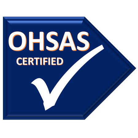 certified: The images symbol have been ohsas certified