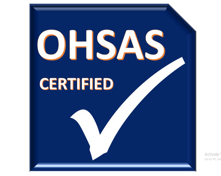 carbon footprint: The images symbol have been ohsas certified