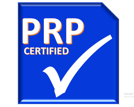 The images symbol have been prp certified Stock Photo