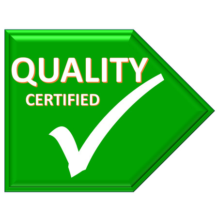 certified: The images symbol have been quality certified Stock Photo