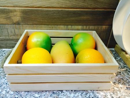 show case: Fruit show case decorate