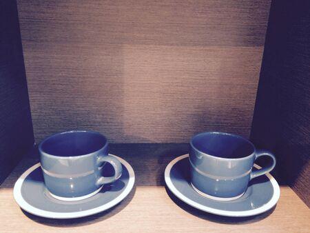 interior: Blue cups