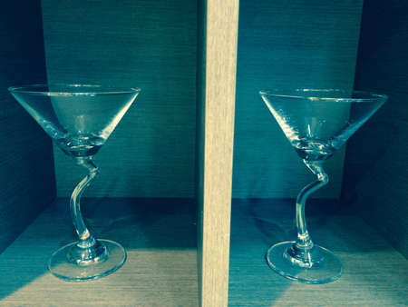 interior: Glasses of wine