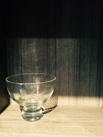interior: Glass of water