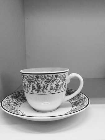 interior: Coffee cup or water glass Stock Photo