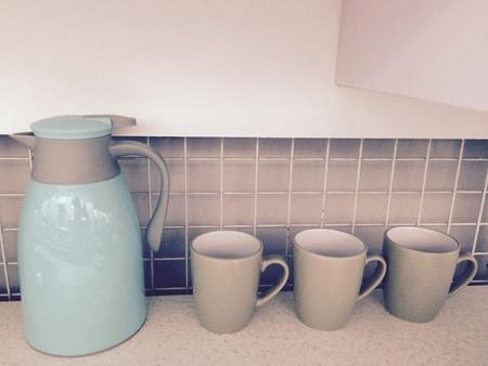 interior: Jug and cup