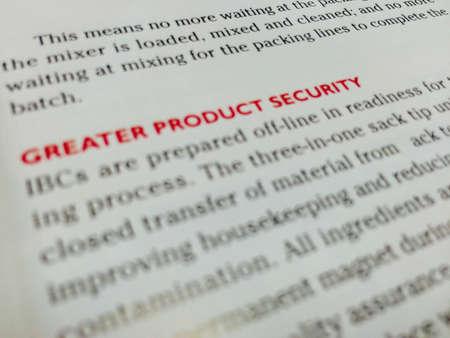 negocios comida: Enfoque redacci�n seguridad del producto en la revista de negocios de alimentos