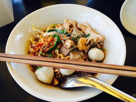 noodle soup: Thai food of noodle soup