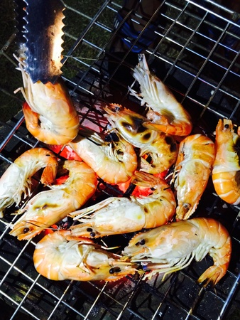 grill: Shrimp seafood grill