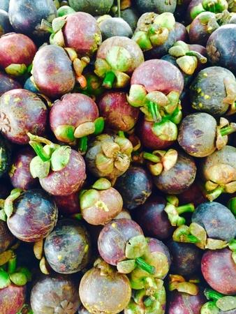 fruta tropical: Mangost�n Tailandia frutas tropicales