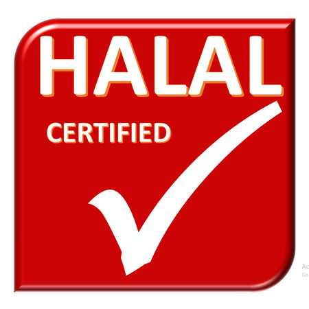 certificate symbol of system on red color