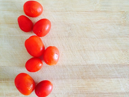 packing material: Red tomatoes   Stock Photo