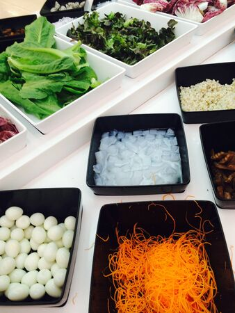 obst und gem�se: Lebensmittel Obst Gem�se slad bar in Superm�rkten Lizenzfreie Bilder