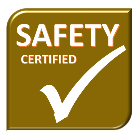 the symbol of accreditation and certificate Stock Photo