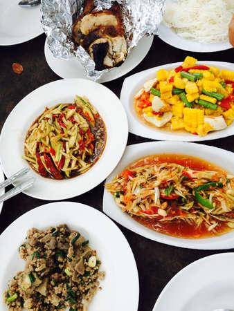 thai food: Thai food spicy salad