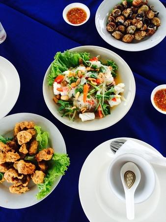 thai food: Seafood Thai food