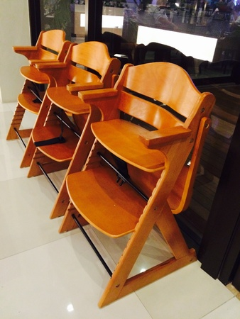 interior: Children eating chair