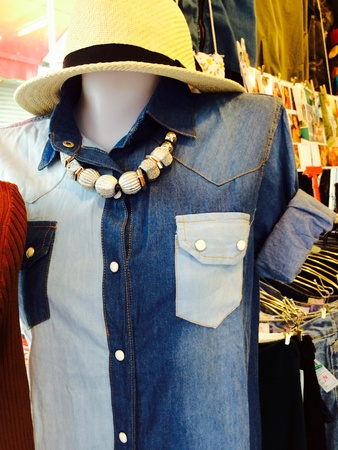 apparel: Dress on model Stock Photo