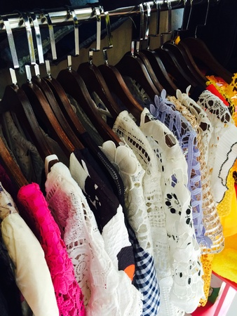 garment: Fashion show clothes hang clothes shop