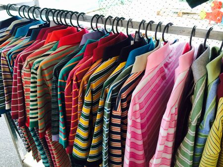 apparel: Cloth hanging in cloth shop