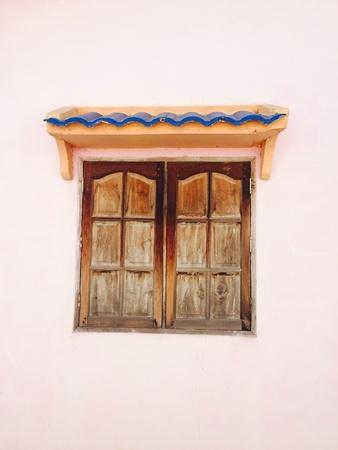 canvas: Vintage wood window