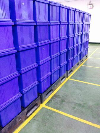 plastic container: Red plastic container box Stock Photo