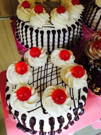 birthday suit: Birthday cake Stock Photo