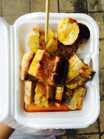 grill: Thailand banana grill dessert sweetmeat