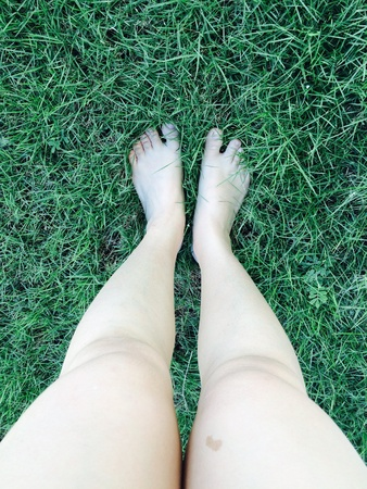 up: Standing on the grass