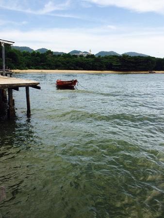 net: boat in sea Stock Photo