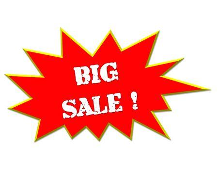 vend: sale or discount promotion symbol big sale