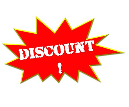 lower value: sale or discount promotion symbol Stock Photo