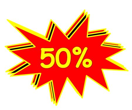 bake sale: sale or discount promotion symbol Stock Photo
