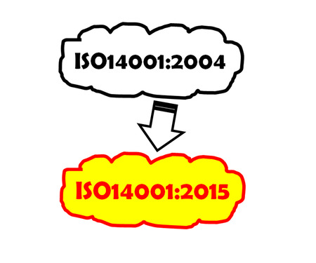 transition: Transition iso14001:2004 to iso14001:2015 Stock Photo