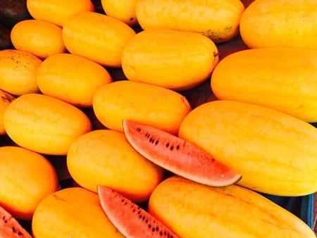 melon fruit: Yellow melon Fruit