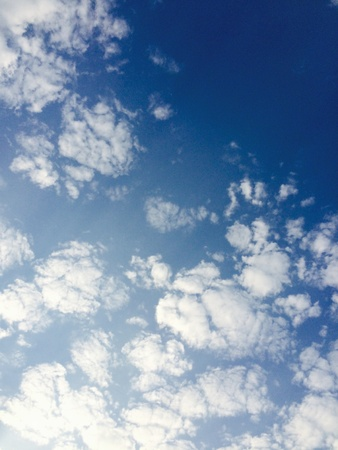 sky diving: White clouds in the sky Stock Photo