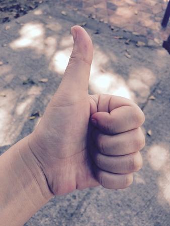 presage: The hand symbol shows that best