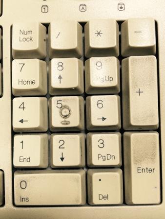 alphabet keyboard: number alphabet keyboard Stock Photo