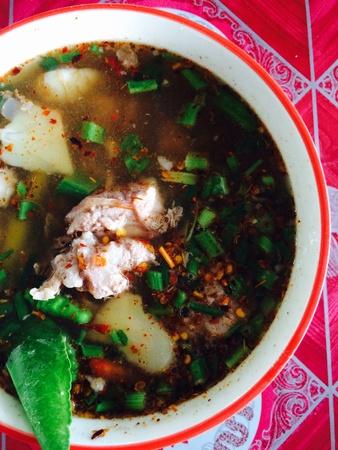 yum: tom yum Thai food