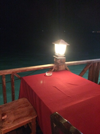 lighthearted: Light from the lamp at night