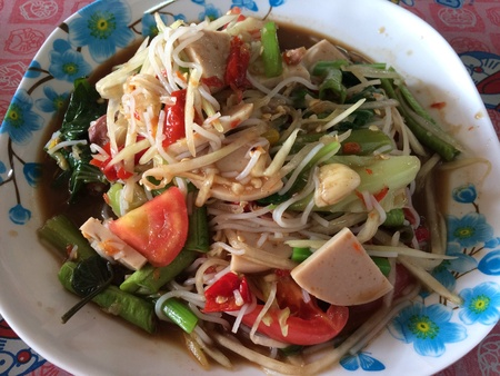 tam: Som Tam is green papaya salad cuisine from Thailand