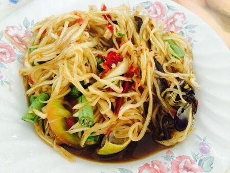 green papaya salad is Thai food